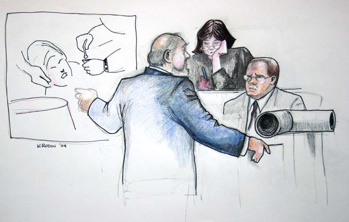 Attorney Bob Bloom questions a witness